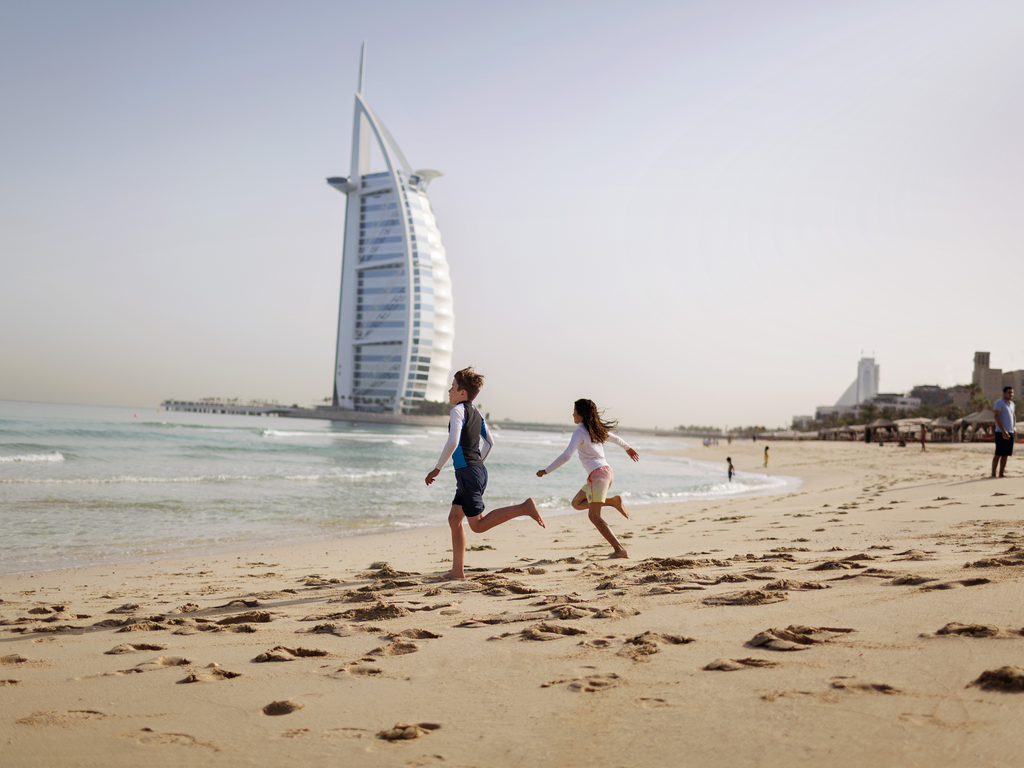 Large-Burj Al Arab beach and Kids