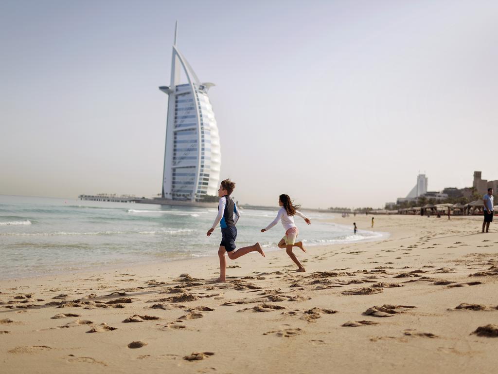 Large-Burj Al Arab beach and Kids